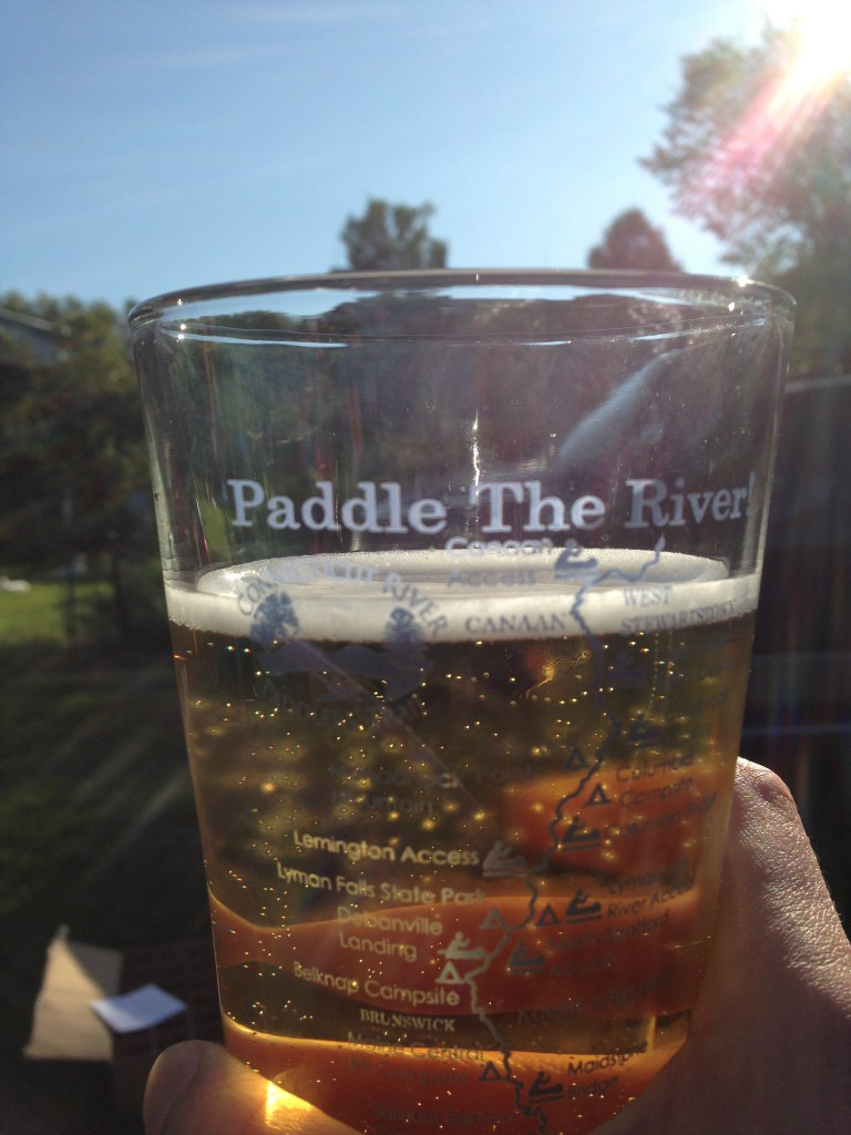 All those who contributed 25 received a pint glass with a map of the river.